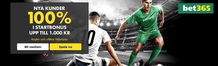 Lista med spelbolag som erbjuder oddsbonus 2017