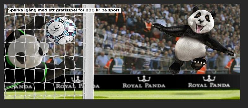 Få 200 kr oddsbonus hos nya Royal Panda Sport